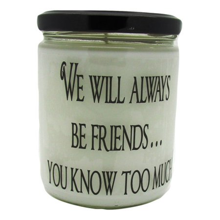 Star Hollow Candle Company We Will Always Be Friends You Know Too Much Pears and Berries Jar