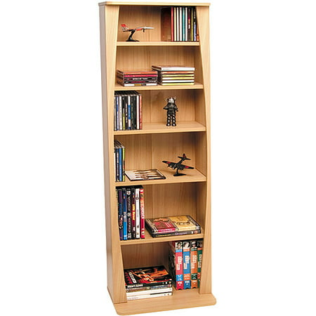 Atlantic Canoe Multimedia Bookcase for 231 CDs Or 115 DVDs