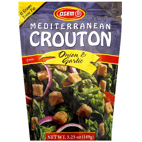 Osem Mediterranean Onion & Garlic Croutons, 5.25 oz (Pack of 8)