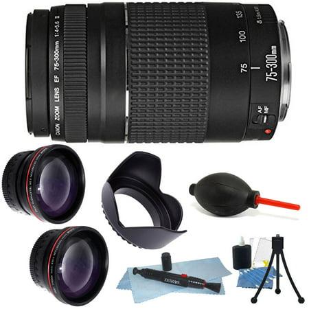 Canon Zoom Telephoto EF 75-300mm f/4.0-5.6 III Autofocus Lens + 58mm Accessories