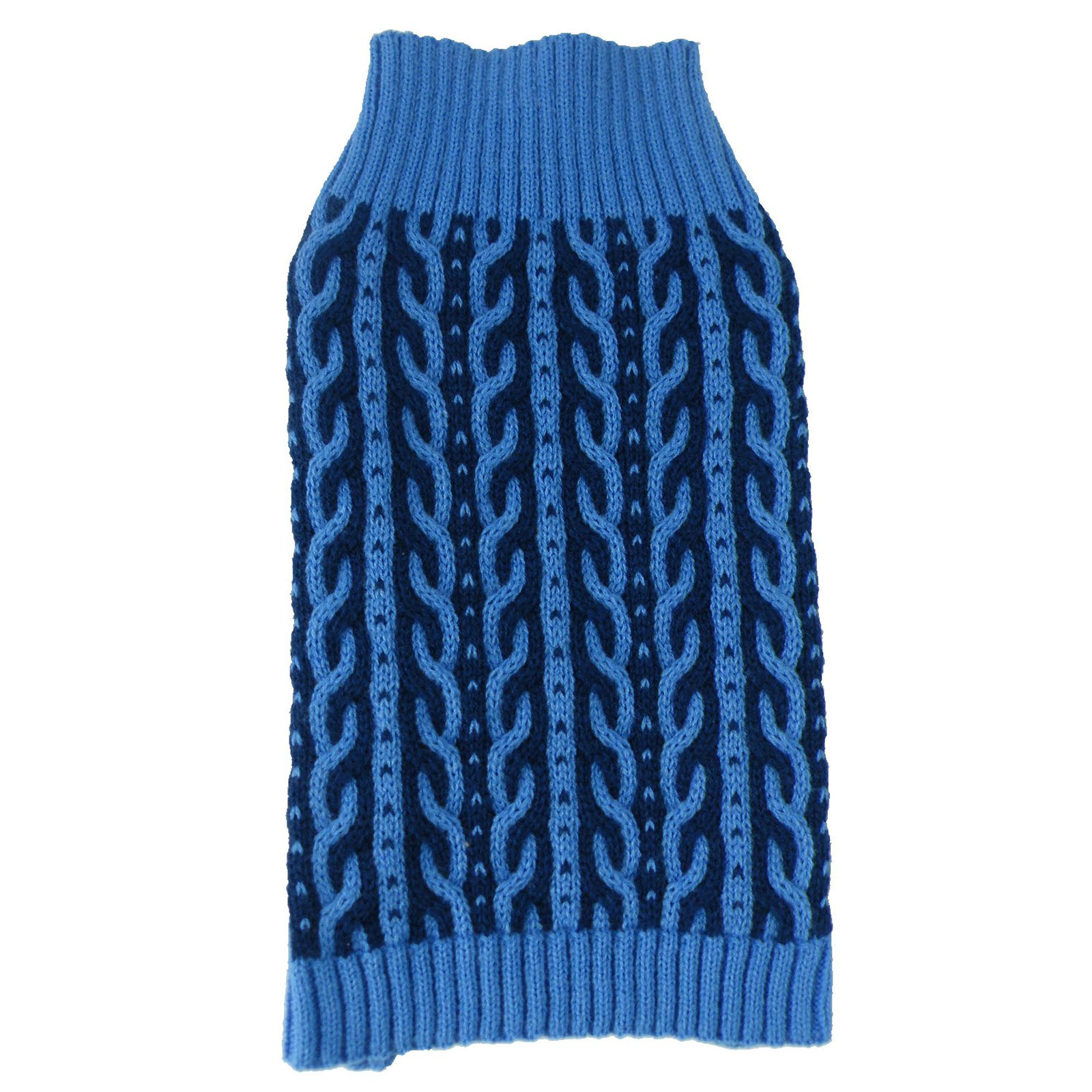 Pet Life Harmonious Dual Color Weaved Heavy Cable Knitted Fashion Designer Dog Sweater