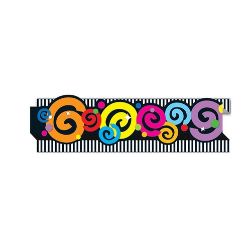 Frank Schaffer Publications/Carson Dellosa Publications Pop-its Swirls Classroom Border