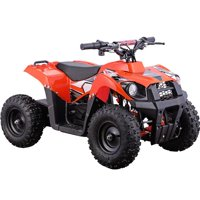 MotoTec Monster 36V 500W Kids Battery Powered ATV Four Wheeler Orange