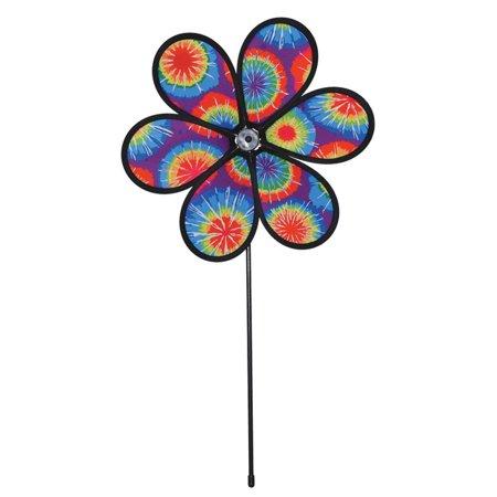 In the Breeze 6-Petal Tie Dye Flower Wind Spinner, 12-Inch](Flower Wind Spinner)