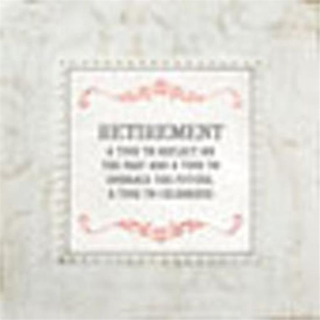 CB Gift WD081 7 x 7 Framed Table Top - Retirement