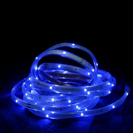 Taping Christmas Lights To Wall : 18 Blue LED Indoor/Outdoor Christmas Linear Tape Lighting - White Finish - Walmart.com