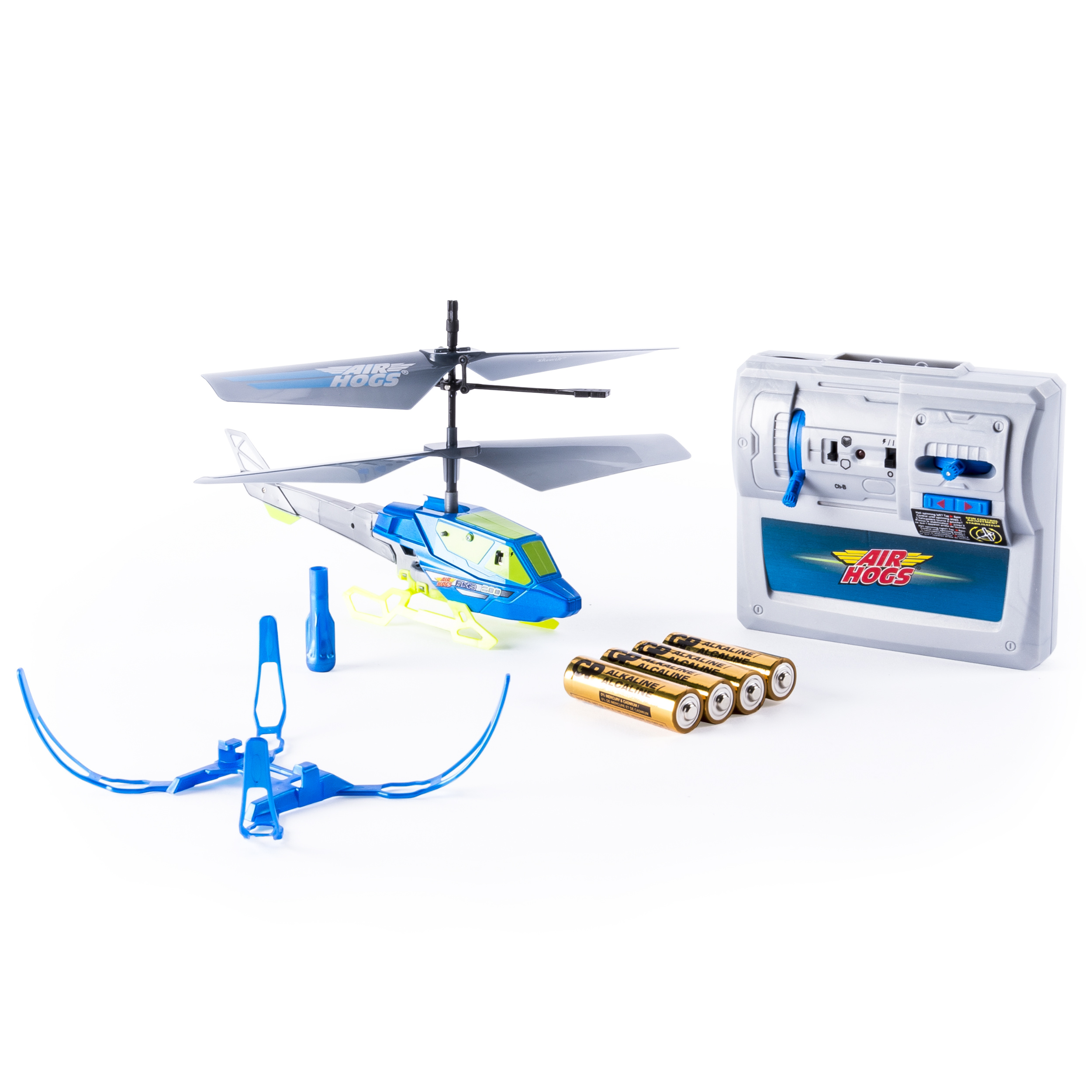 Air Hogs, Axis 200 RC Helicopter With Batteries - Blue
