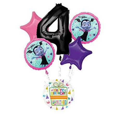 Mayflower Products Vampirina 4th Birthday Party Supplies Balloon Bouquet Decorations