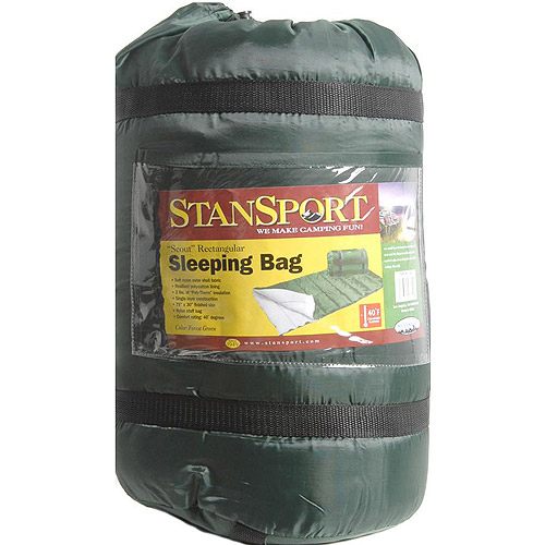 Stansport Sleeping Bag, Forest Green