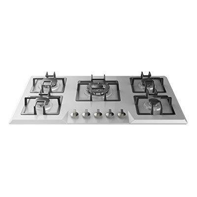 empava 34 stainless steel built-in 5 burners stove gas hob fixed cooktop