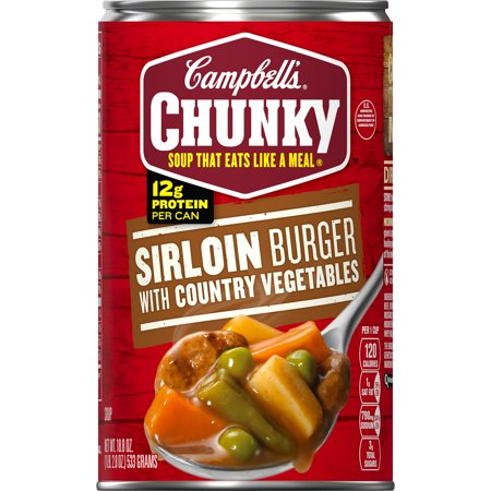 - (4 Pack) Campbell's Chunky Sirloin Burger with Country Vegetables Soup, 18.8 oz.