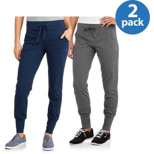"Danskin Now Women's Dri-More Jogger Pant 30"" In-seam, 2 pack"