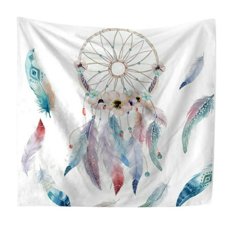 Bohemian Colorful Dream Catcher Feather Printed Wall Hanging Tapestry Party Home Decor