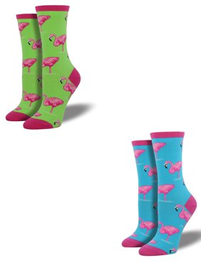 79760049e Product Image Bundle 2 Items  Flamingo Lime and Sky Blue One Size Fits Most Womens  Socks