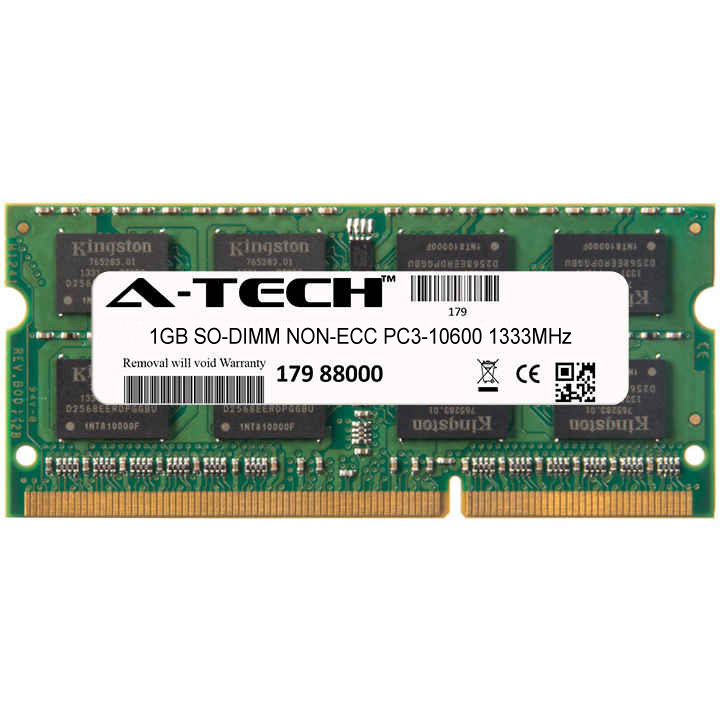 1GB Module PC3-10600 1333MHz NON-ECC DDR3 SO-DIMM Laptop 204-pin Memory Ram