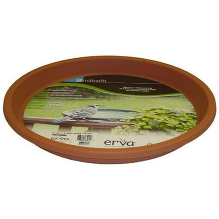 Erva 14 inch Bird Bath Plastic Dish Terra Cotta Garden Yard Lawn Paio Decoration (Birdbath Dish)