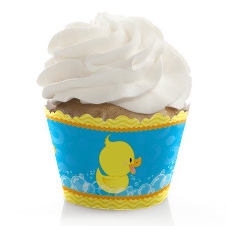 Ducky Duck - Baby Shower or Birthday Party Cupcake Wrappers - Set of 12 (Baby Shower Duck)