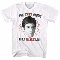 2Bhip Scarface 1980's Gangster Crime Eyes Chico Al Pacino Tony Montana Adult T-Shirt White