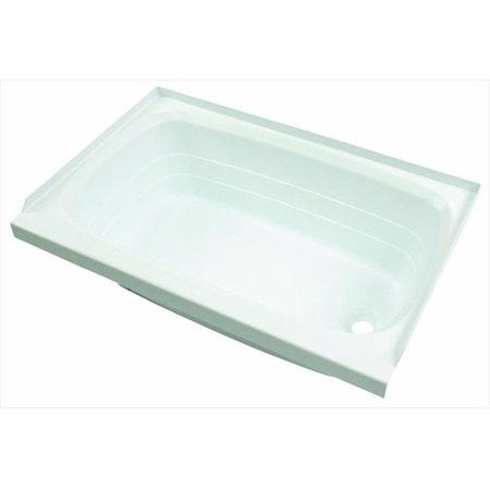 M.OUTFITTER 209658 Right Hand Drain - White, 24 x 36 In.