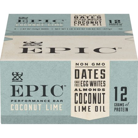 EPIC Coconut Lime Performance Bar 9 Count