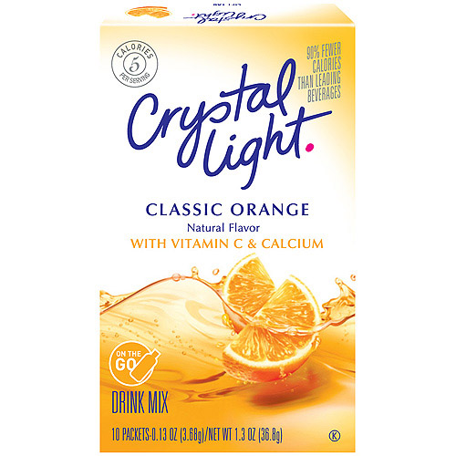Crystal Light On The Go Sugar Free Sunrise Classic Orange Drink Mix, 10 Ct