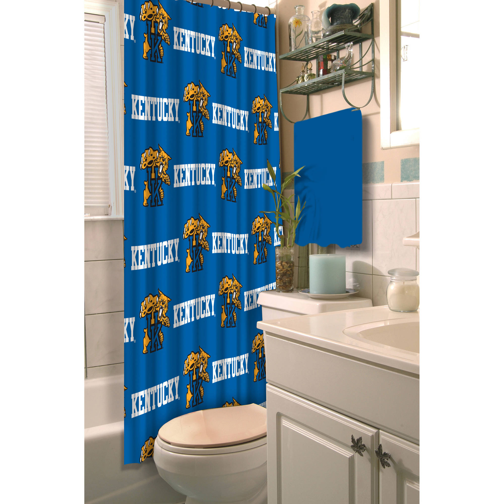 NCAA University of Kentucky Decorative Bath Collection - Shower Curtain
