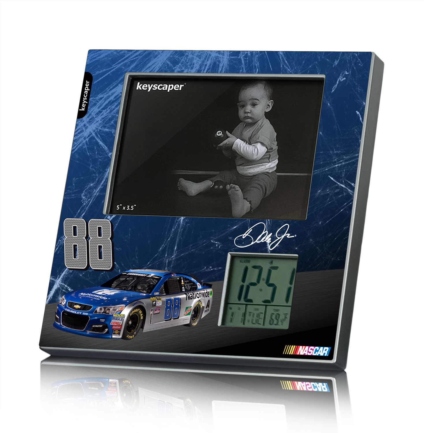 Dale Earnhardt Jr Picture Frame and Desk Clock NASCAR