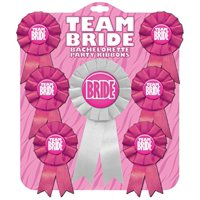 Team Bride Bachelorette Party Ribbons, Set of 7, Great Bachelorette Party Favor By Kalan LP
