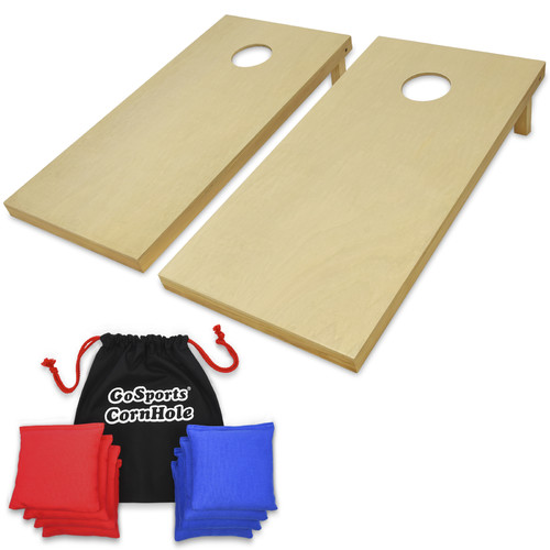GoSports Regulation Size Solid Wood CornHole Set, with 8 Premium Beanbags by P&P Imports LLC