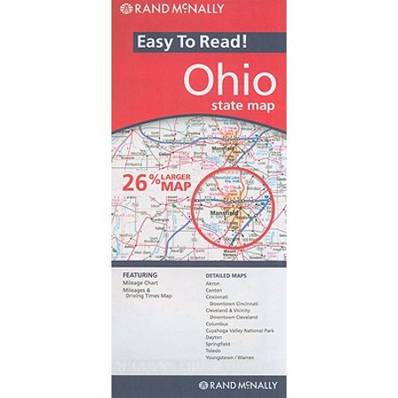 Rand mcnally easy to read! ohio state map: 9780528881930