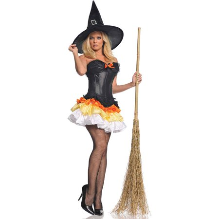 Underwraps Sexy Candy Corn Witch Outfit Womens Halloween - Halloween Witches Outfits