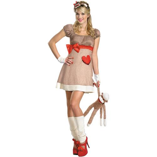 Ms. Sock Monkey Adult Halloween Costume