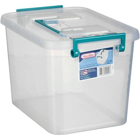 Sterilite 7 2 Qt Modular Latch Box Teal Sachet Walmart Com