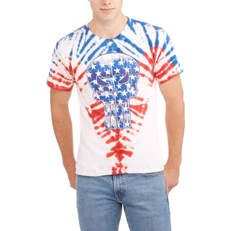 Marvel Punisher Mens Americana Ombre Graphic Tee