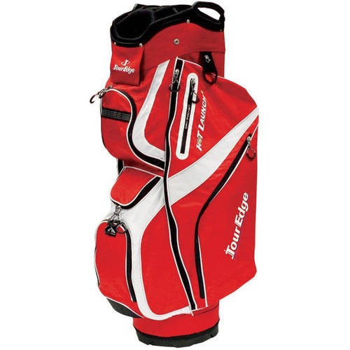 Tour Edge Golf Hot Launch 2 Cart Bag, Red/White