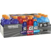 Gatorade Thirst Quencher Sports Drink, Variety Pack, 12 oz Bottles, 18 Count