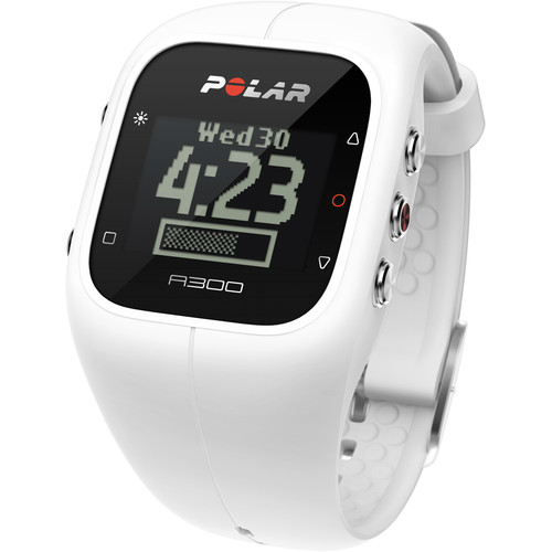 Refurbished Polar A300 Single Powder White Fitness & Activity Monitor w/ HRM & 4-Week Battery Life