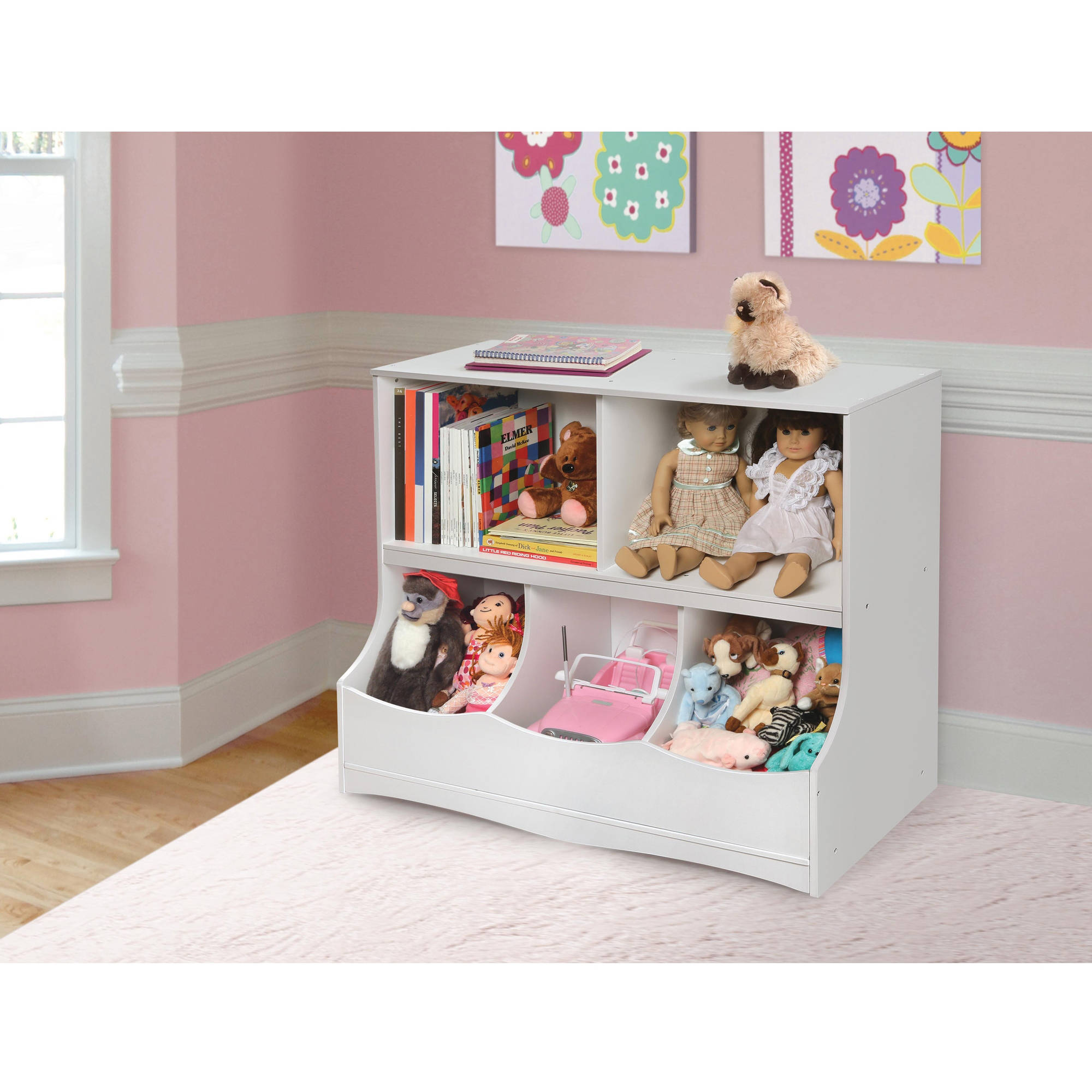 Badger Basket Multi-Bin Storage Cubby, Multiple Colors