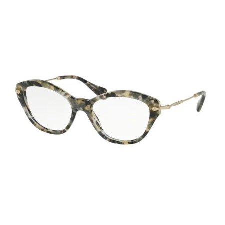 5c2ce188ff95 MIU MIU Eyeglasses MU 02OV DHE1O1 Black White Marbled 52MM - Walmart.com