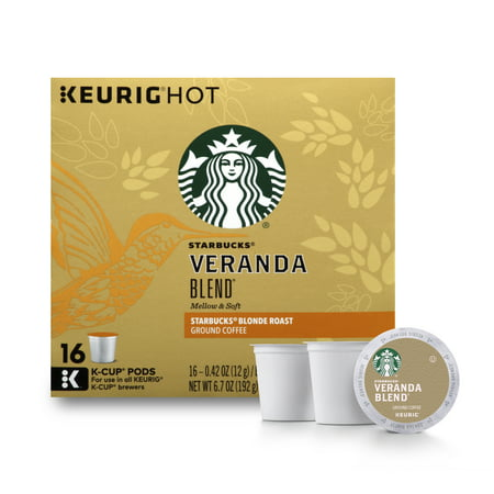 - Starbucks Veranda Blend Blonde Roast Single Cup Coffee for Keurig Brewers, 1 Box of 16 (16 Total K-Cup Pods)