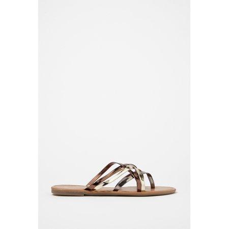 Urban Planet Women's Strappy Flip Flop Sandal - image 3 of 3