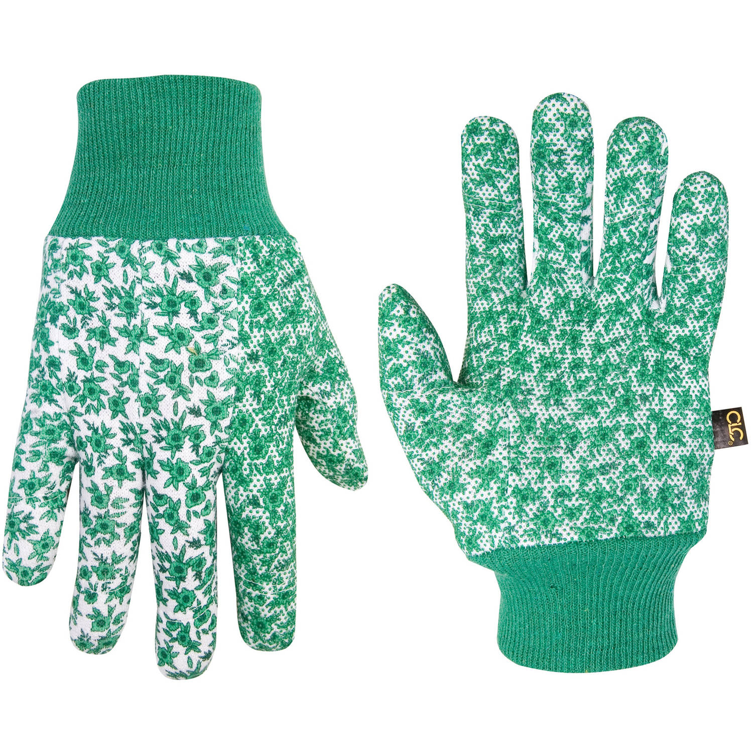 CLC Work Gear 2211 100 percent Cotton Jersey Gardening Gloves with PVC Gripper Dots