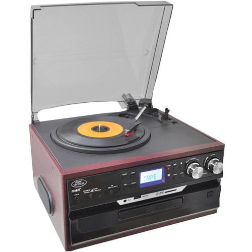 Pyle Pro PTTCDS7U Vintage Styled Mahogany Turntable