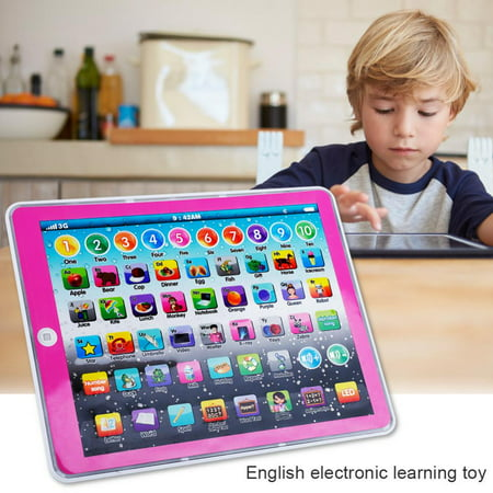 English Learning Pad Toy, Ymiko Kids Children Tablet Pad Electronic Preschool English Learning Numbers Letters Teach Toy, Kids English Pad Toy