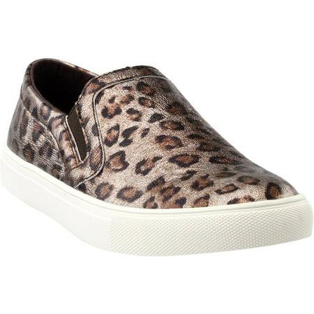 Corkys Womens Jungle Slip On Fashion Sneaker (Cheetah, (Cheetah Vans Women)