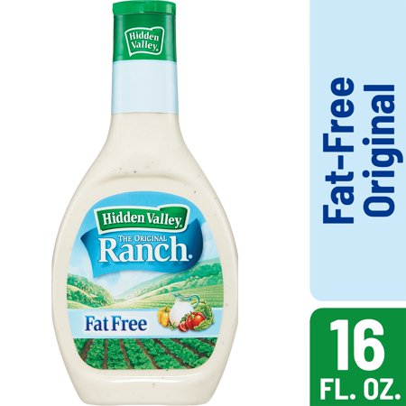 Fat Free Sweet - (2 Pack) Hidden Valley Original Ranch Fat Free Salad Dressing & Topping, Gluten Free - 16 Oz Bottle