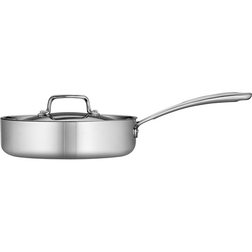 Tramontina 3-Qt Tri-Ply Clad Deep Saute Pan with Lid, Stainless Steel