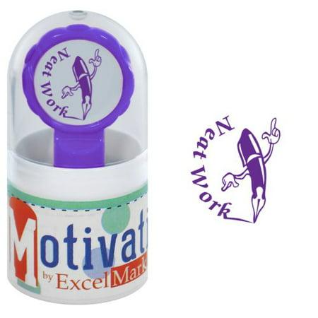 Motivations Pre-inked Teacher Stamp - Neat Work (Pen) - Purple Ink