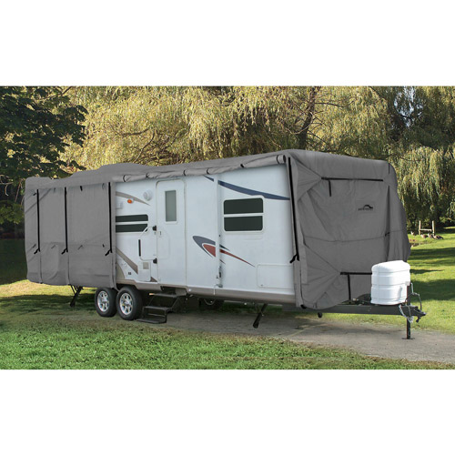 Camco UltraGuard Class C Travel Trailer Cover, Gray