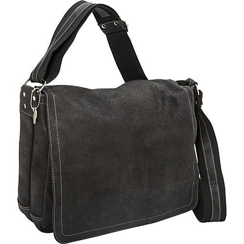 David King & Co. Distressed Leather Full Flap Laptop Messenger - M